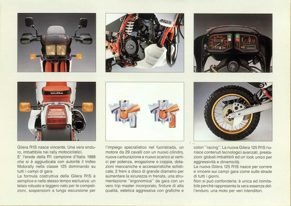 1988/1989 – R1/R1S – tipo – 125 Stradali