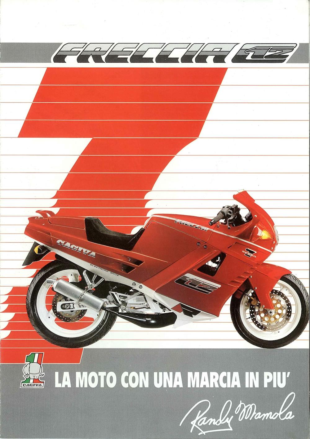 Brochure_Cagiva_Freccia C12R_rosso_89