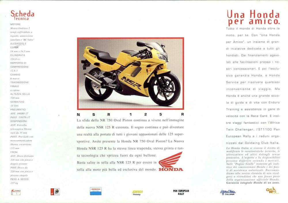 Catalogo Honda NSR-R rosso_nero_back 1993