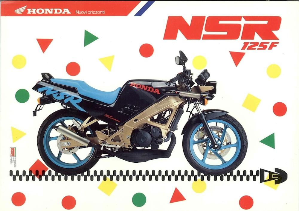 Honda NSR-FII 91 nero_blu_volantino
