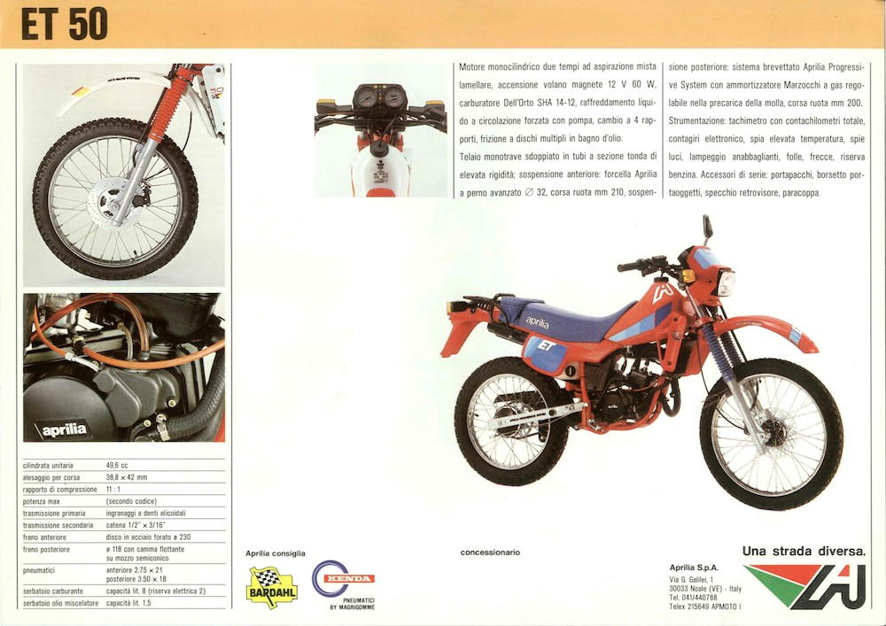 1983 1986 Aprilia Et 50 125 Stradali