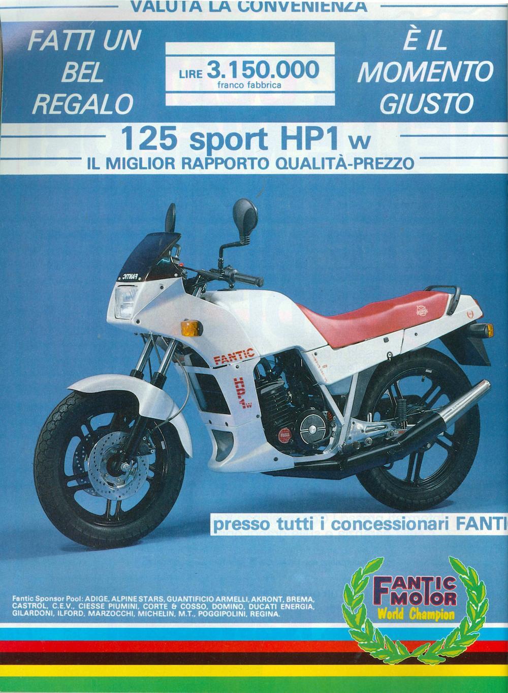 Fantic 125 HP1 bianco 86