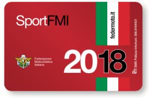 Tessera FMI Sport 2018